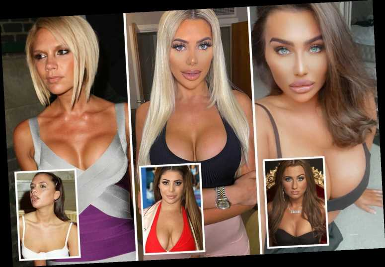 From Chloe Ferry's 'dumplings' to Victoria Beckham's 'bazookas' – how boob jobs changed celebs' looks