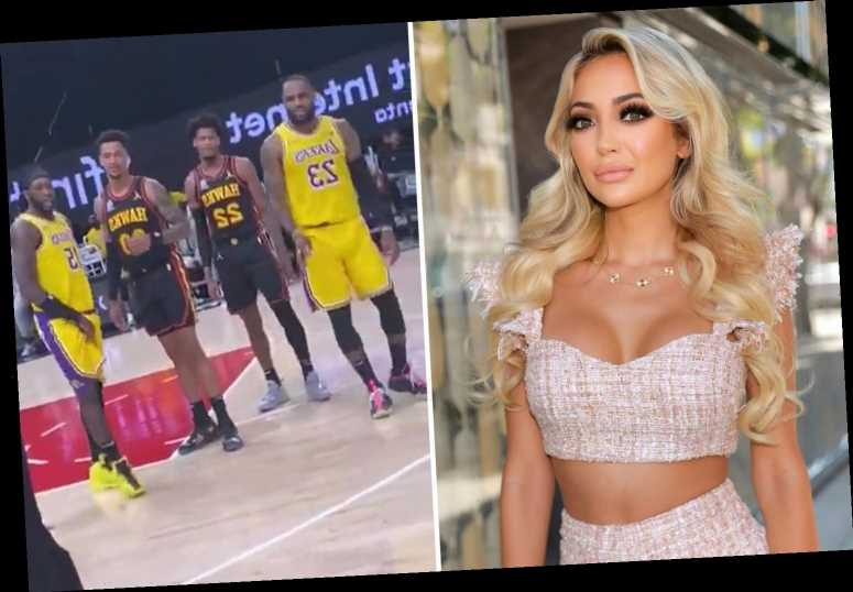 'Courtside Karen' who cussed at LeBron James and was removed from LA Lakers game APOLOGIZES for 'losing my cool'