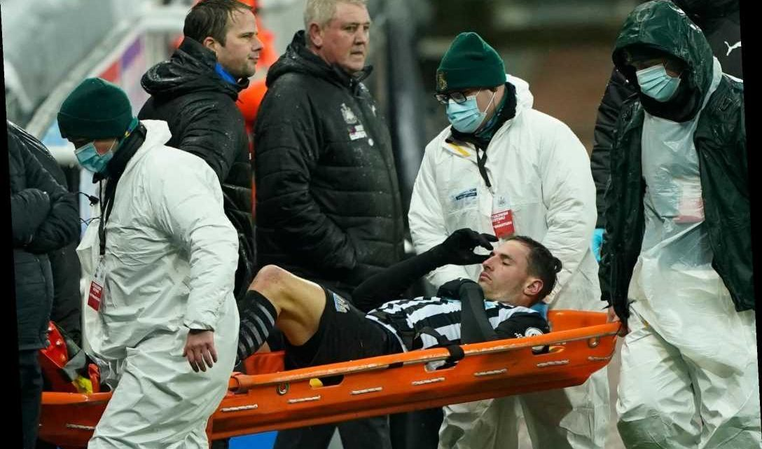 Newcastle suffer another blow with Fabian Schar set to miss rest of season with knee injury after being stretchered off