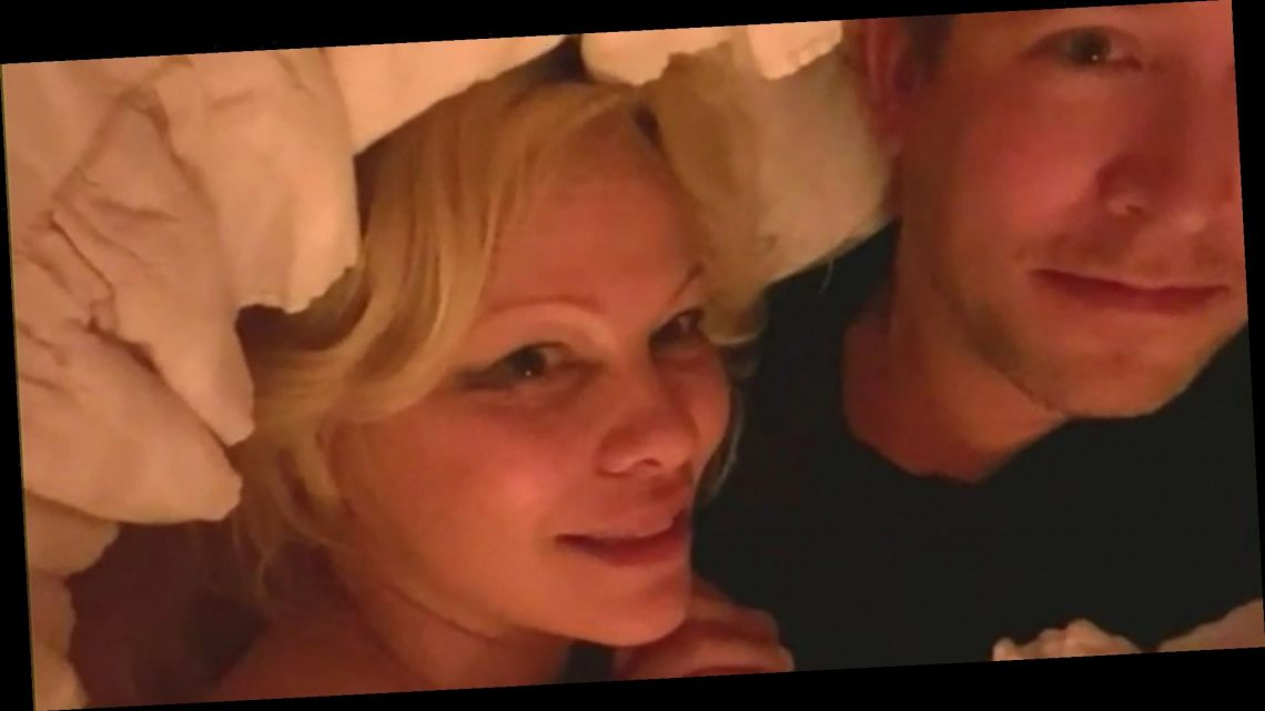 Pamela Anderson Shocks TV Hosts During Chaotic Interview in Bed With Hubby