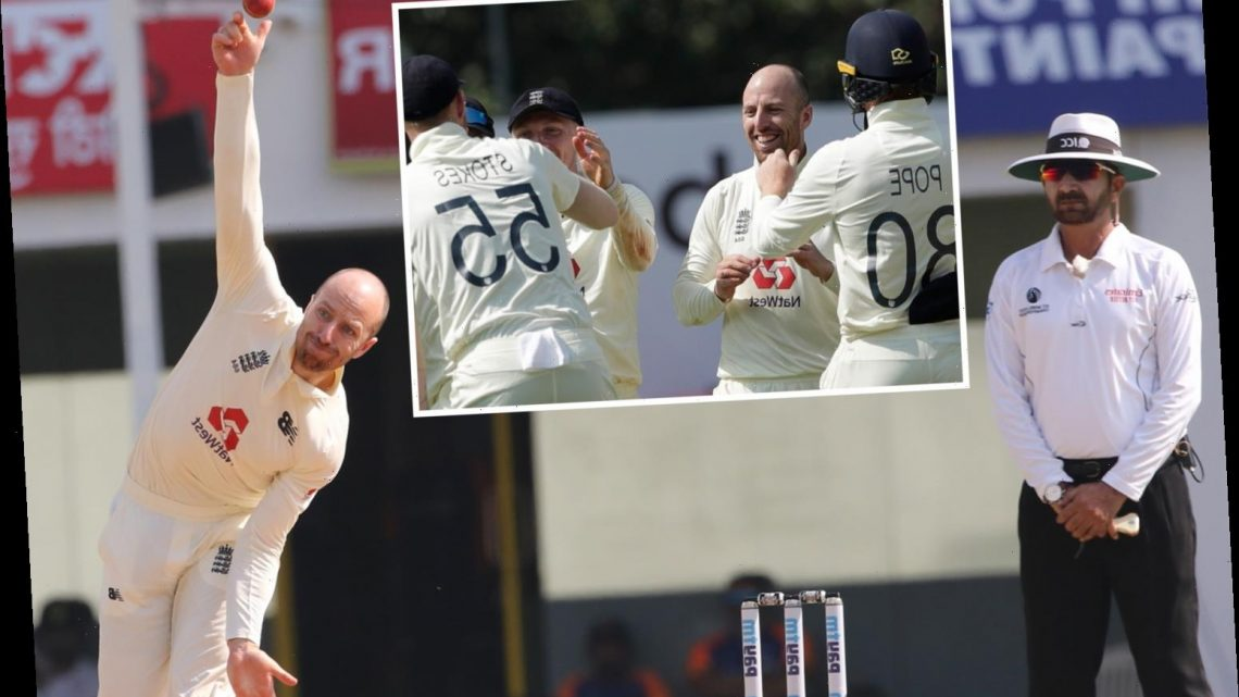 Jack Leach produces wonder ball towards end of day four as England sniff victory in First Test against India