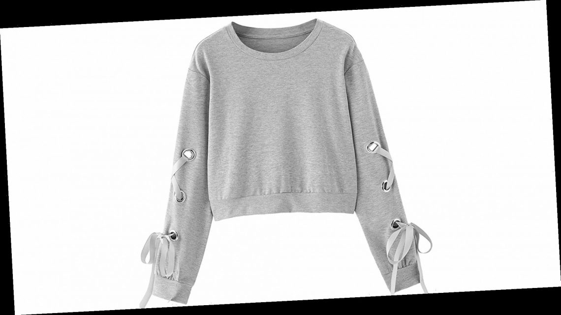 Level Up Your Sweatshirt Game With This Lace-Up Cropped Crewneck