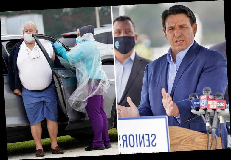 Florida Gov Ron DeSantis threatens to pull pop-up Covid vaccine center after claims he's favoring 'rich white people'