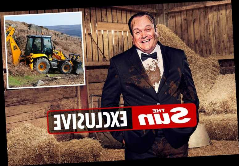 EastEnders' Shaun Williamson could have been killed on Celebs On The Farm as digger he's driving almost flips over