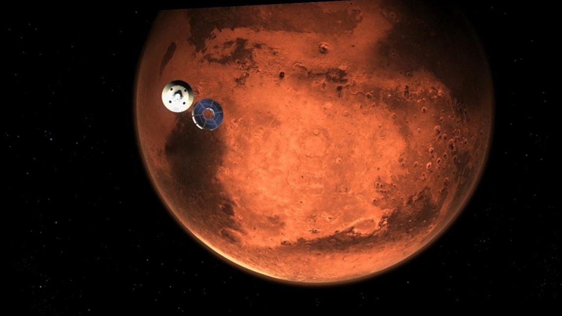 NASA's Perseverance rover streaks toward a landing on Mars