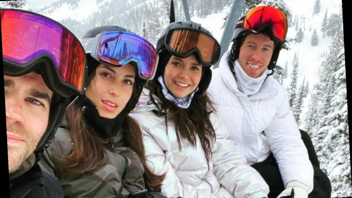 'Vampire Diaries' Alums Nina Dobrev and Paul Wesley Have Snowy Double Date