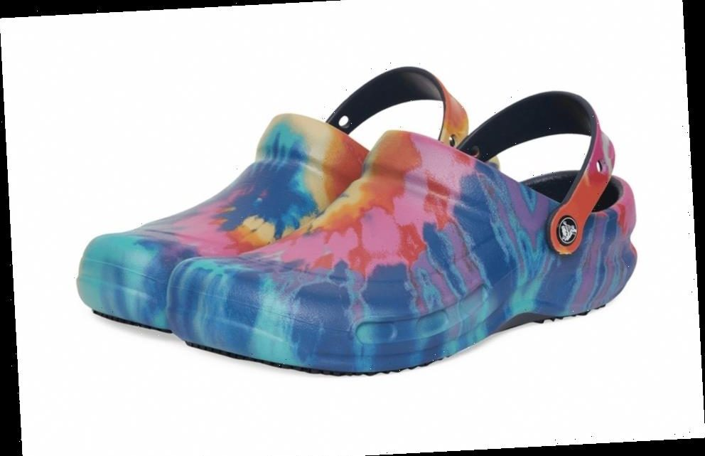 Every Chef's Favorite Crocs Bistro Clog Gets Dipped in a Tie-Dye Rainbow