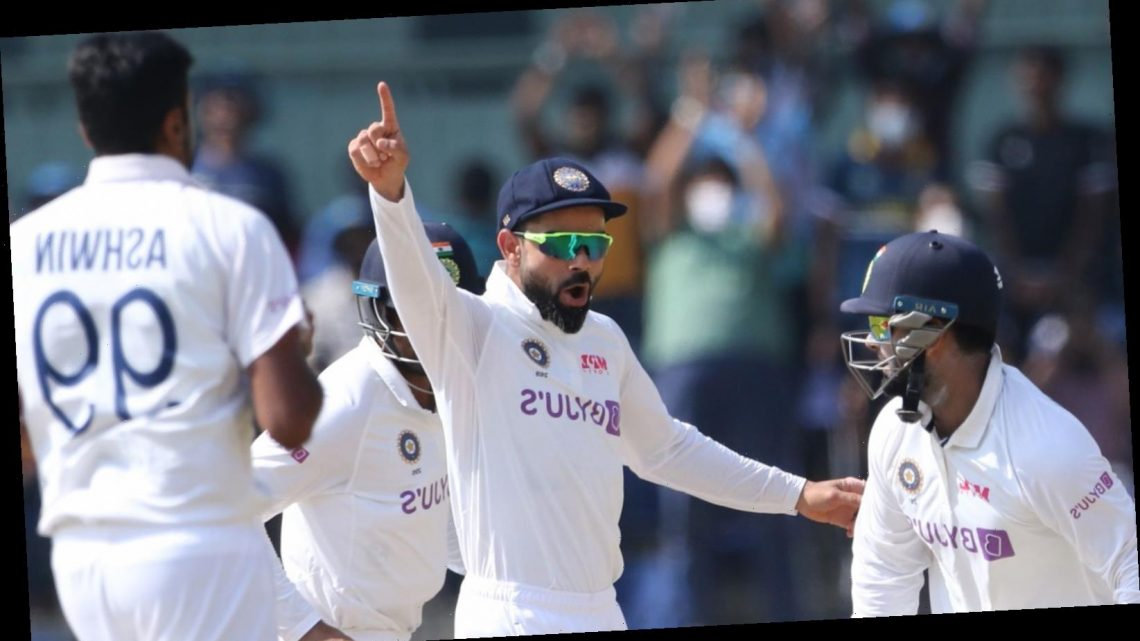 England lose second Test to India by 317 runs after being bowled out for 164 on day four in Chennai