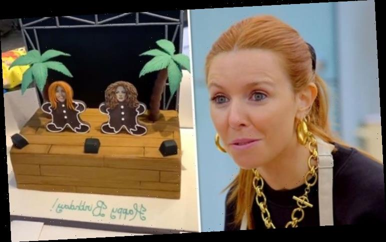 Stacey Dooley gifted with Gloria Estefan cake by Kevin Clifton after he mocks GBBO efforts