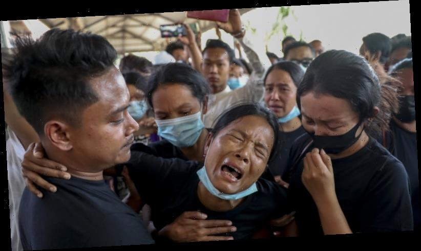 Junta troops open fire on a funeral after Myanmar's bloodiest day