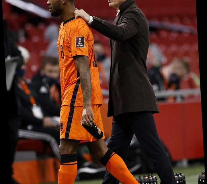Liverpool star Wijnaldum involved in heated touchline row with Holland boss De Boer after being hauled off vs Latvia