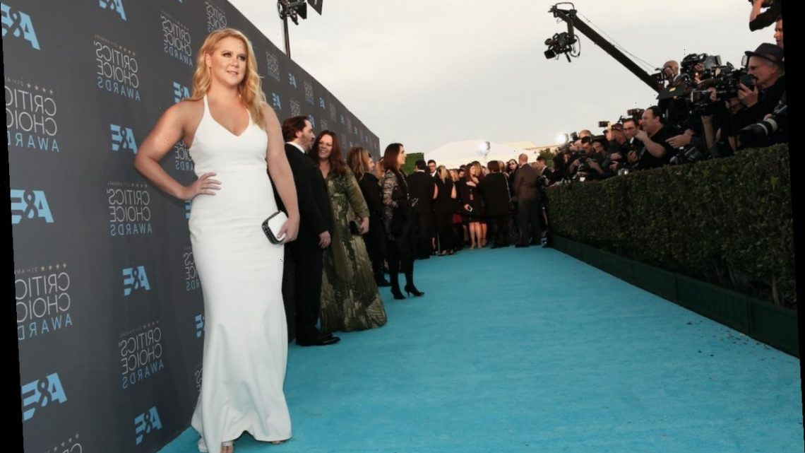Amy Schumer Celebrates Getting Vaccinated in Sparkles and a Dirty Joke