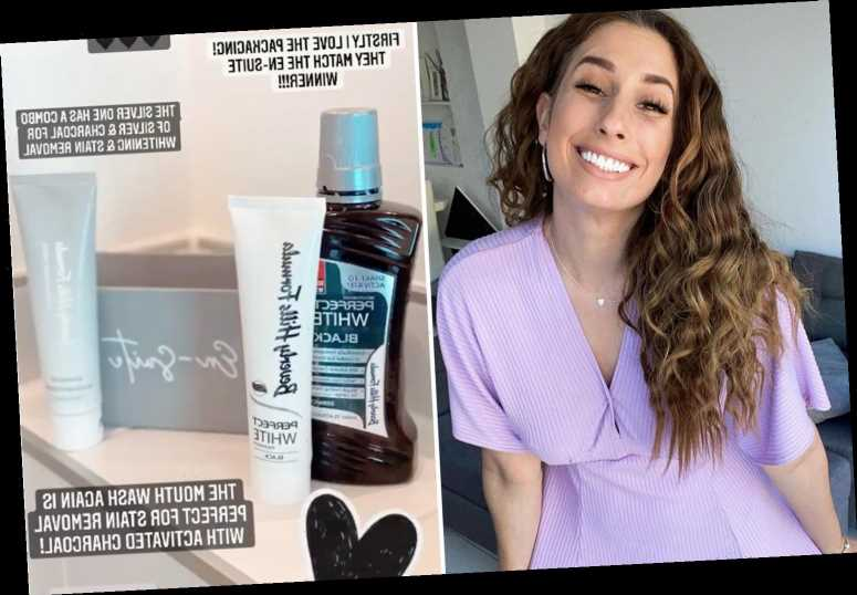 Stacey Solomon reveals £5 Superdrug secret that keeps her smile white after admitting real teeth are 'black & yellow'