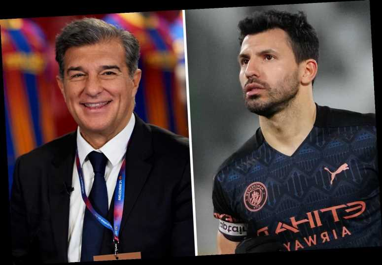 Barcelona have 'agreement in place' to sign Man City legend Aguero with Laporta 'very close' to sealing free transfer