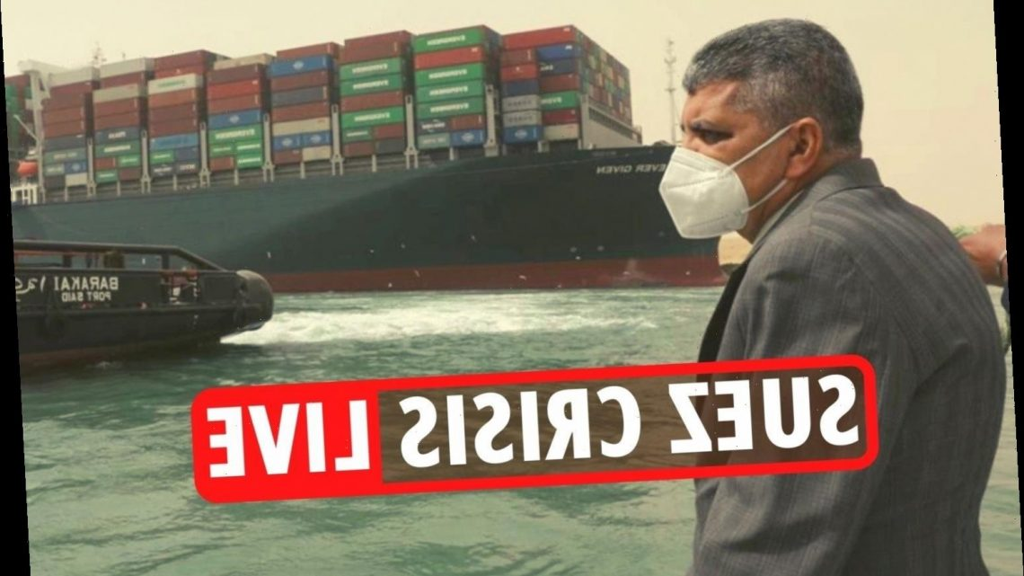 Suez Canal Ever Given crisis – Hundreds of ships FINALLY start moving but backlog will take days and cost billions