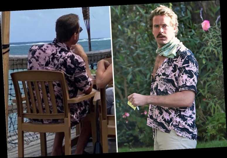 Armie Hammer spotted for the first time since cannibal & violence claims at Cayman Islands beach cafe with mystery blond