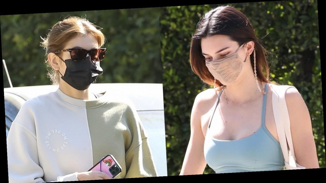 Kendall Jenner Shows Off Fit Figure Heading to Pilates Class with Kaia Gerber