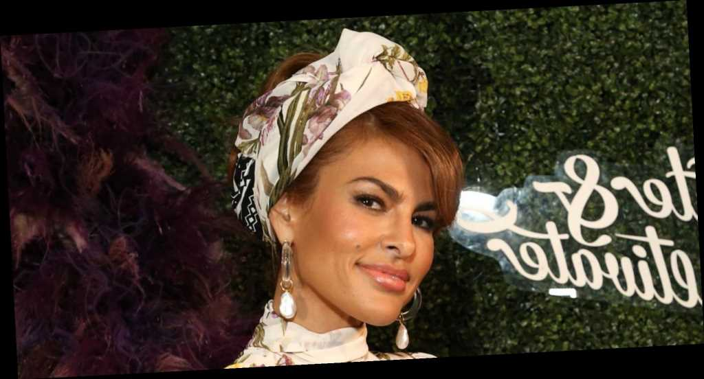 Eva Mendes's Daughters Gave Her a Very Colorful Makeover