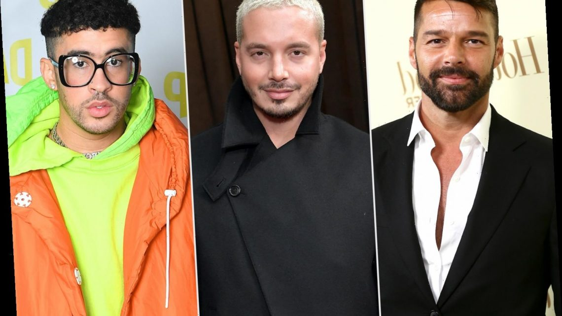 'We've Got the Whole World Listening': J Balvin and Ricky Martin Talk Repping Latinos at Grammys