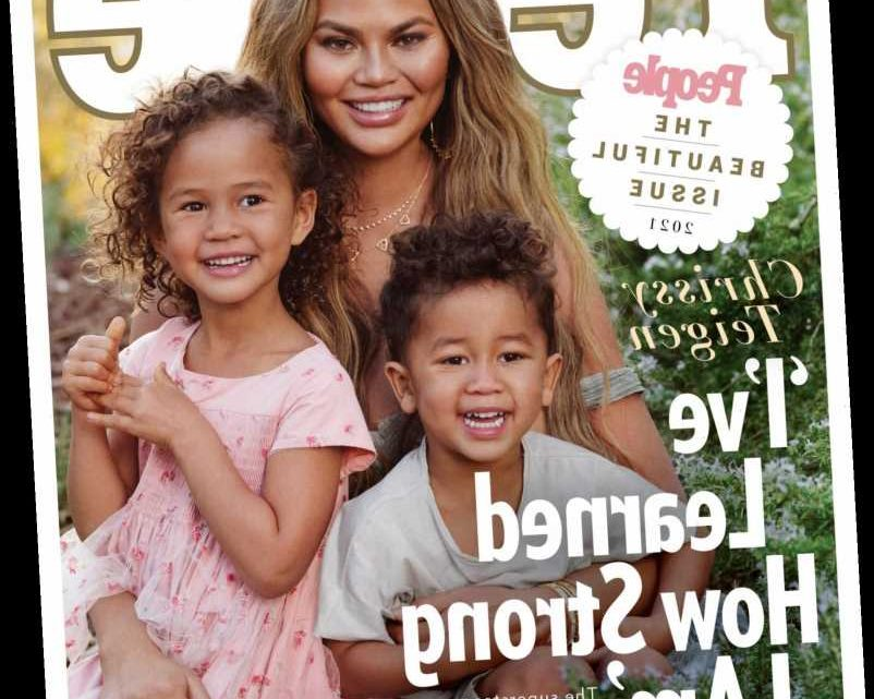 Chrissy Teigen Graces the Cover of PEOPLE's Beautiful Issue with Her 'Wonderful' Kids Luna and Miles