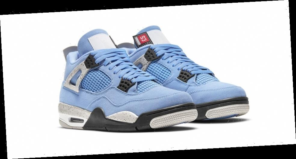 """Air Jordan 4 """"University Blue"""" is Officially Unveiled"""