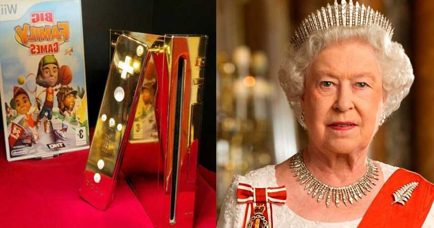 24K Gold-Plated Nintendo Wii Intended For The Queen Burning Up EBay