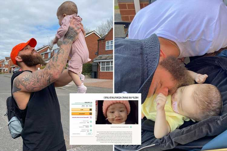 Ashley Cain fans flood his GoFundMe with donations as they pay tribute to Azaylia after her death