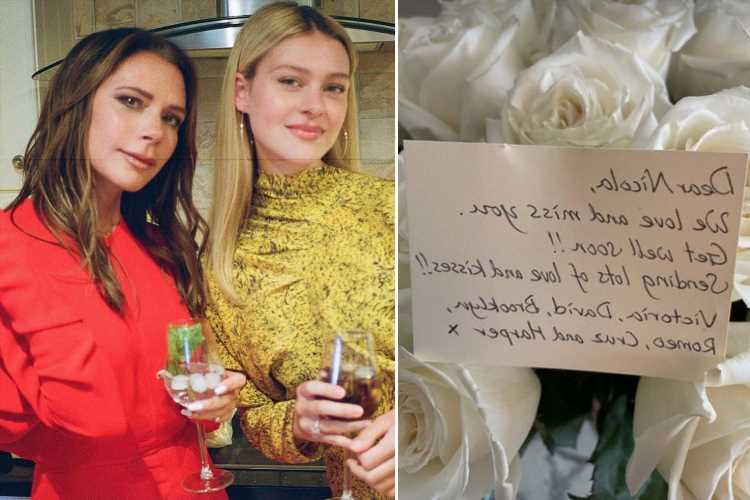 Brooklyn Beckham's fiancee Nicola Peltz struck down with mystery illness as Victoria sends 'get well soon' flowers