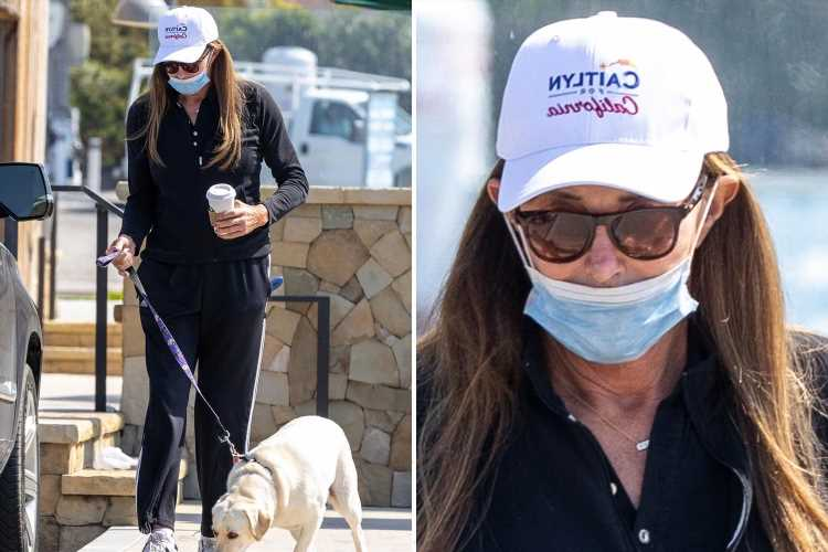"""Caitlyn Jenner spotted wearing """"Caitlyn for California"""" cap just hours after announcing bid for governor"""