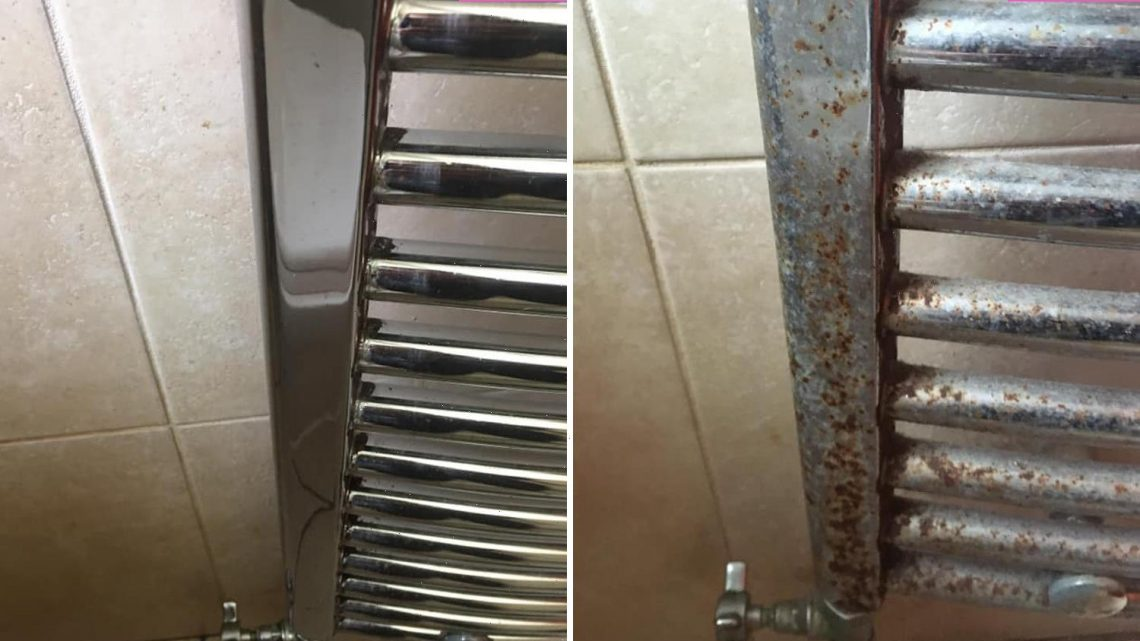 Cleaning fanatic gets grim rusty radiator sparkling new in seconds using KETCHUP