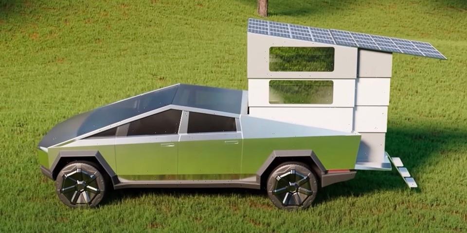 Cyberlandr Transforms Tesla's Cybertruck Into an Elevated Camper