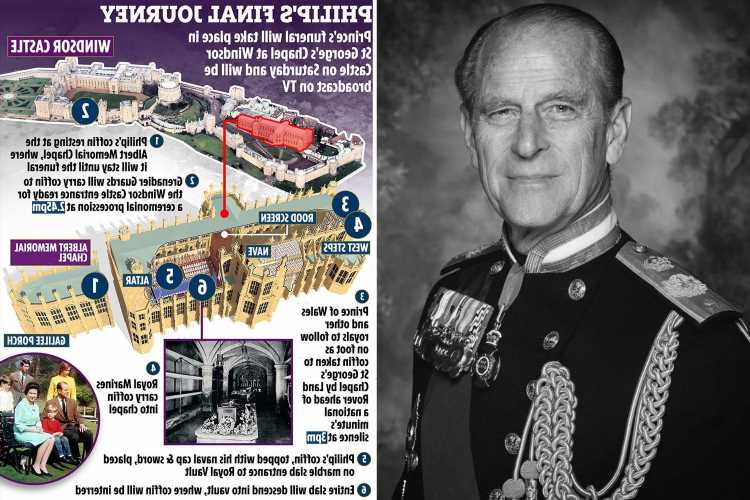 Everything you need to know about how Prince Philip's funeral will unfold on Saturday