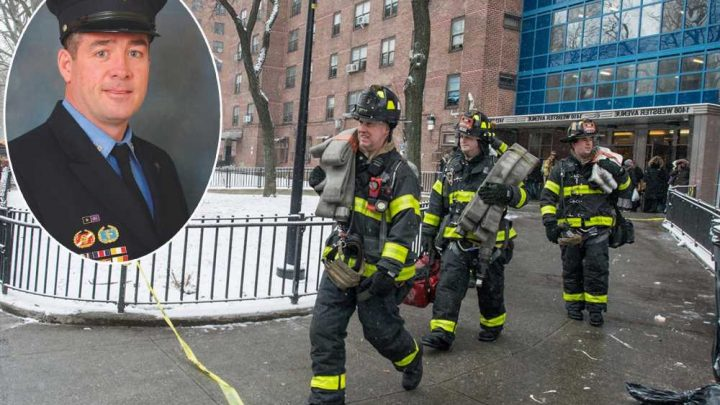 Firefighter who died of 9/11-related cancer awarded medal for Bronx blaze