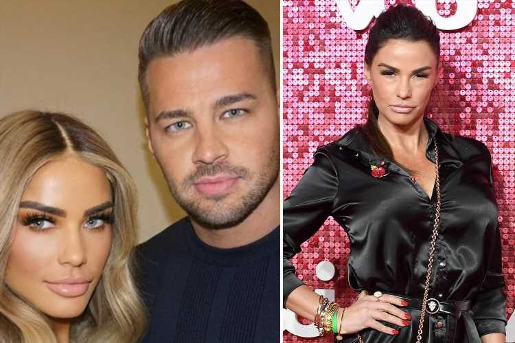 Furious Katie Price slaps down girl who messaged fiancé Carl Woods telling her 'he'd never go for a dog like you'