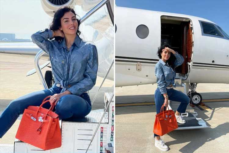 Georgina Rodriguez takes private jet to Paris and fans jump to conclusion Cristiano Ronaldo will make PSG transfer