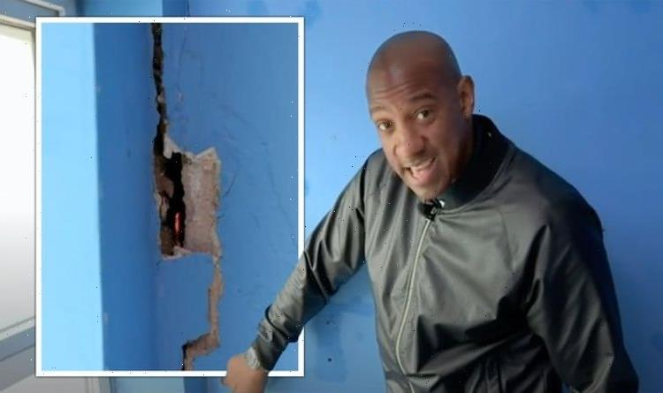 Homes Under the Hammer's Dion Dublin horrified by property's gaping hole 'Can see through'