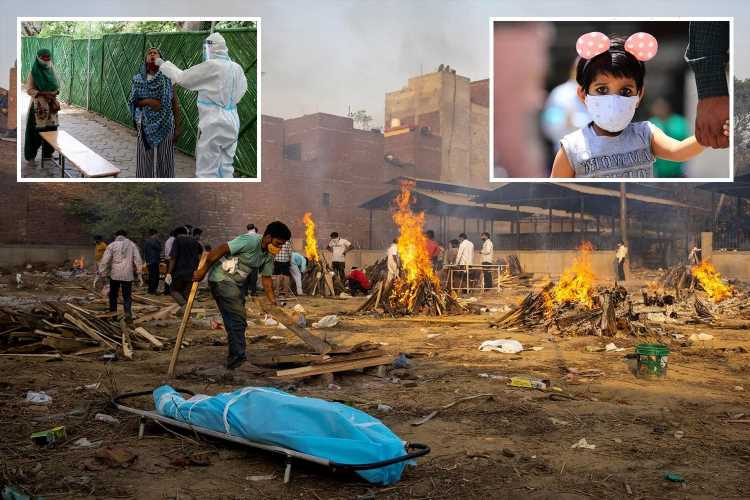 India suffering 'mutant Covid tsunami' with bodies burned 24/7 as Britain FINALLY imposes travel ban