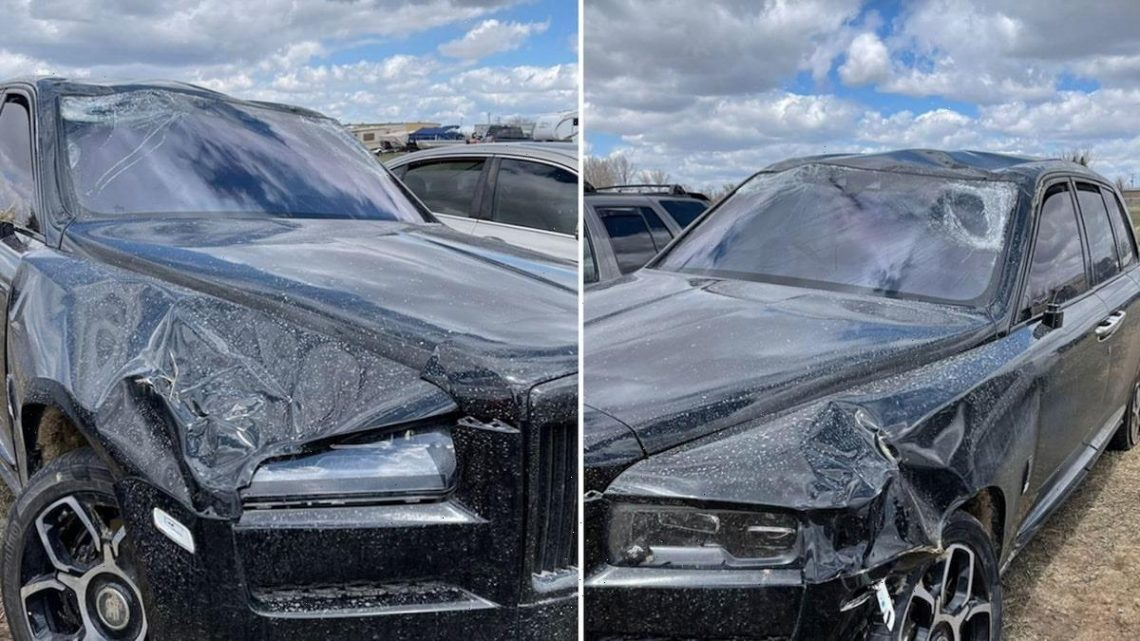 Jeffree Star Shares Pics of Wrecked Rolls-Royce After Wyoming Crash