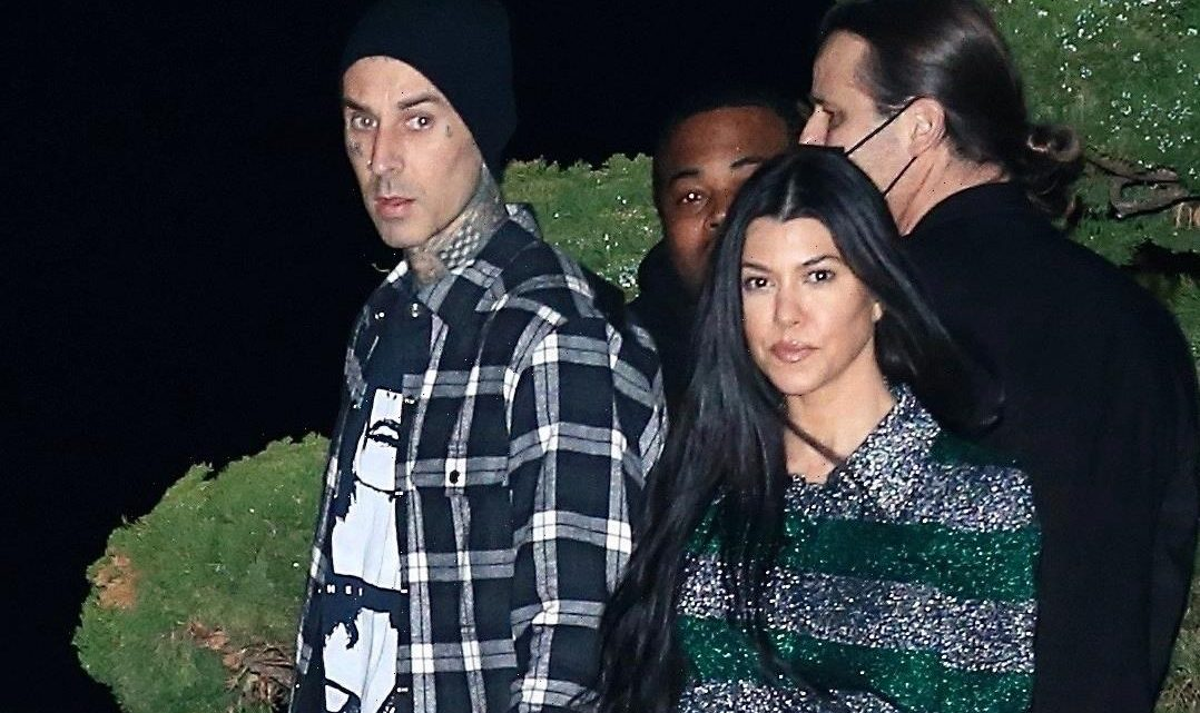 Kourtney Kardashian reacts to Travis Barker's biting comment
