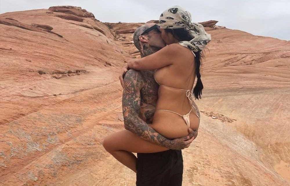 Kourtney Kardashian shares steamy new kissing pic with Travis Barker