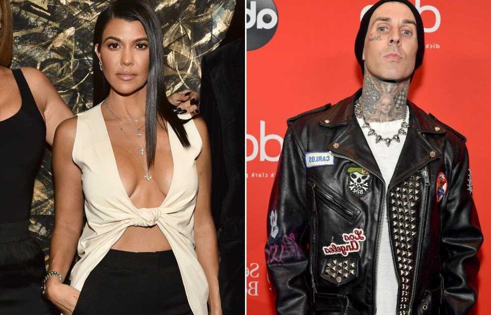 Kourtney Kardashian sucks Travis Barker's thumb in NSFW birthday video