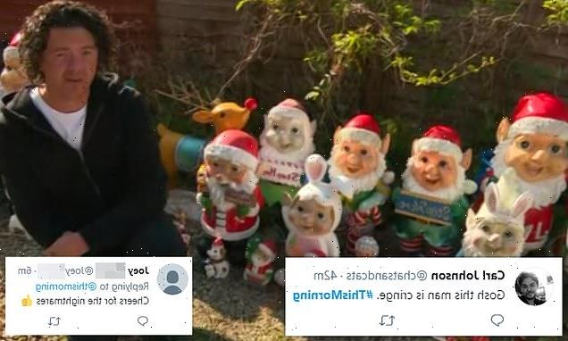 Man reveals he has 240 gnomes in his back garden on This Morning