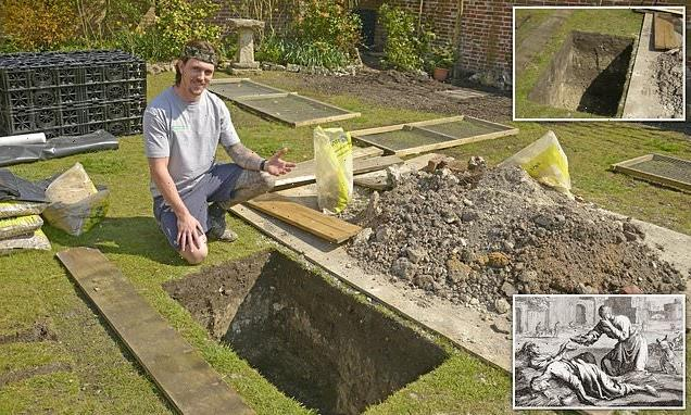 Mystery as workmen building patio dig up FIVE human skeletons