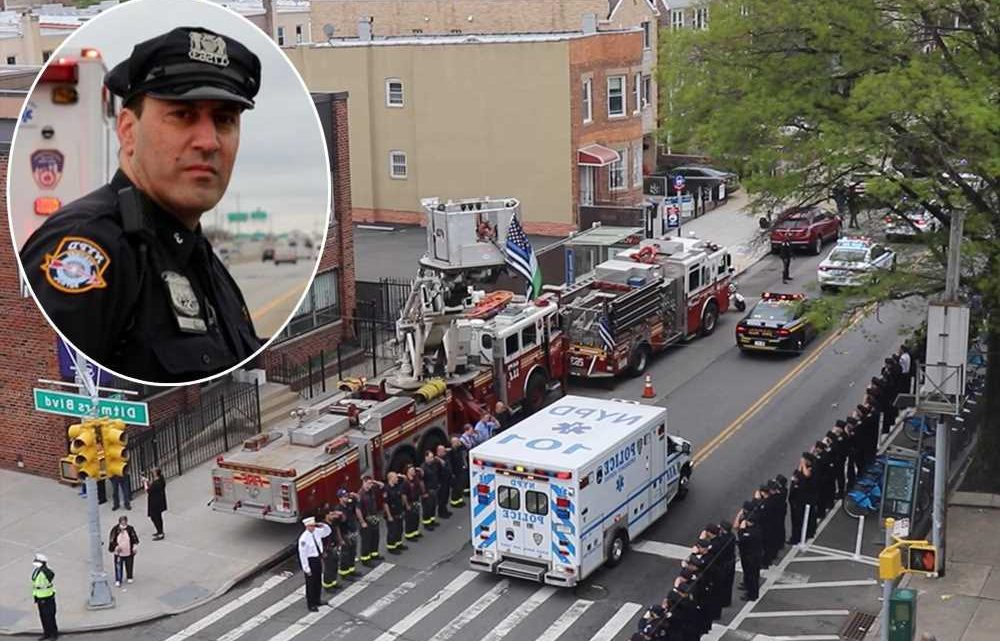 NYPD salutes slain cop Anastasios Tsakos as his body heads home