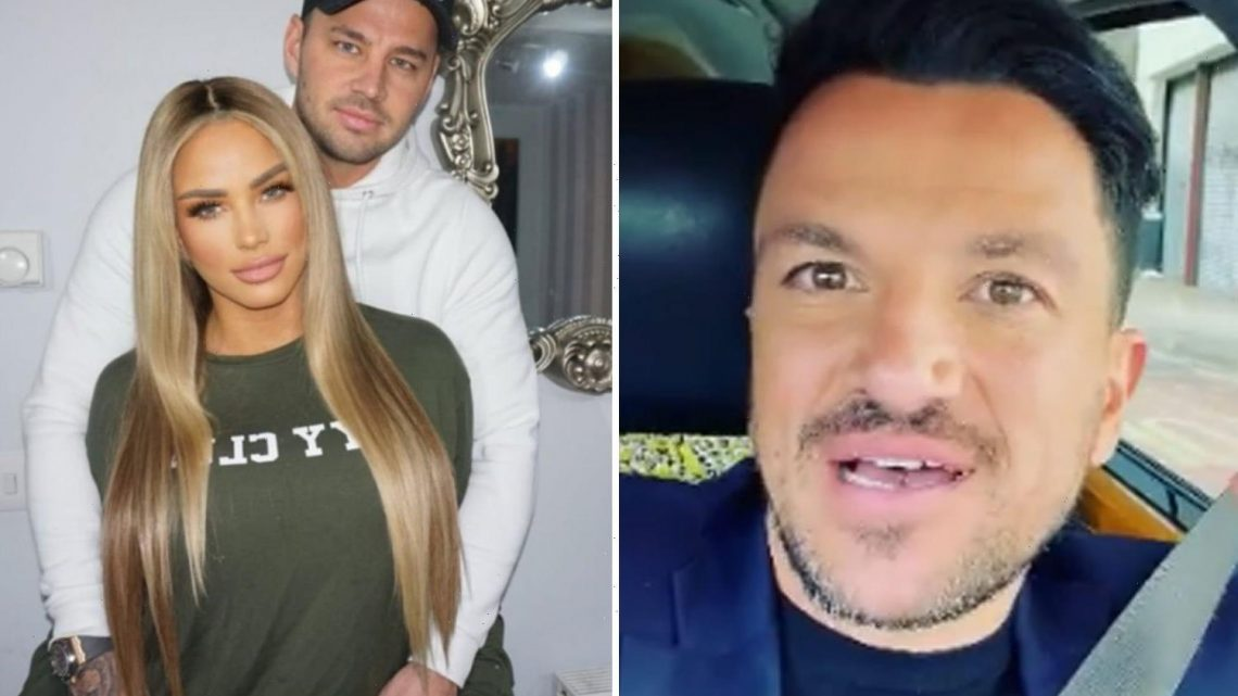 Peter Andre ignores Katie Price engagement drama as he has a 'fantastic day' at work instead