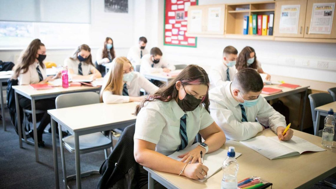 Pupils will be spared from wearing masks in class at English schools and colleges in just over two weeks' time
