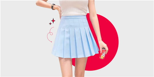 This Trendy Pleated Skirt Is Only $20 on Amazon and It's Going Viral on TikTok