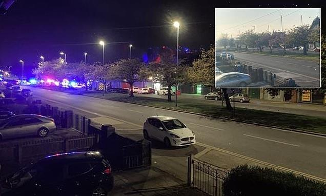 Three people die after BMW crashes into roundabout
