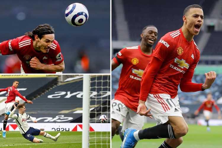 Tottenham 1 Man Utd 3: Cavani inspires comeback as Red Devils avenge early-season thumping to KO Spurs' top-four dreams
