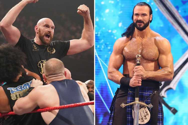 Tyson Fury 'stalking' Drew McIntyre for WWE match and 'messaging Scot every DAY on social media'
